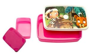 Signoraware Little Stars Easy Plastic Lunch Box Set, 2-Pieces, Pink