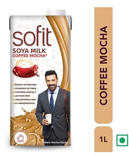 Sofit Milk - SOYA, Coffee Mocha 1L- (Pack of 6)