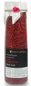 Soulflower Rose Geranium Bath Salt, 500g