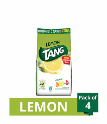 Tang Lemon Instant Drink Mix 500 gm (Pack of 4)