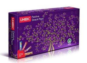 Unibic Festive Snack Bar, 40g (Pack of 6)
