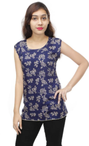 VASTRA FAB Casual Sleeveless Printed Women's Multicolor Top