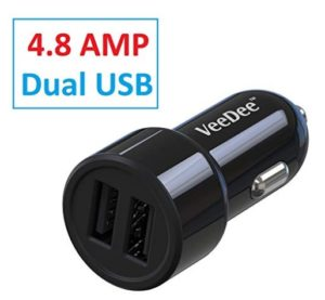 VeeDee VCC02 Dual Port 4.8A Output Car Charger