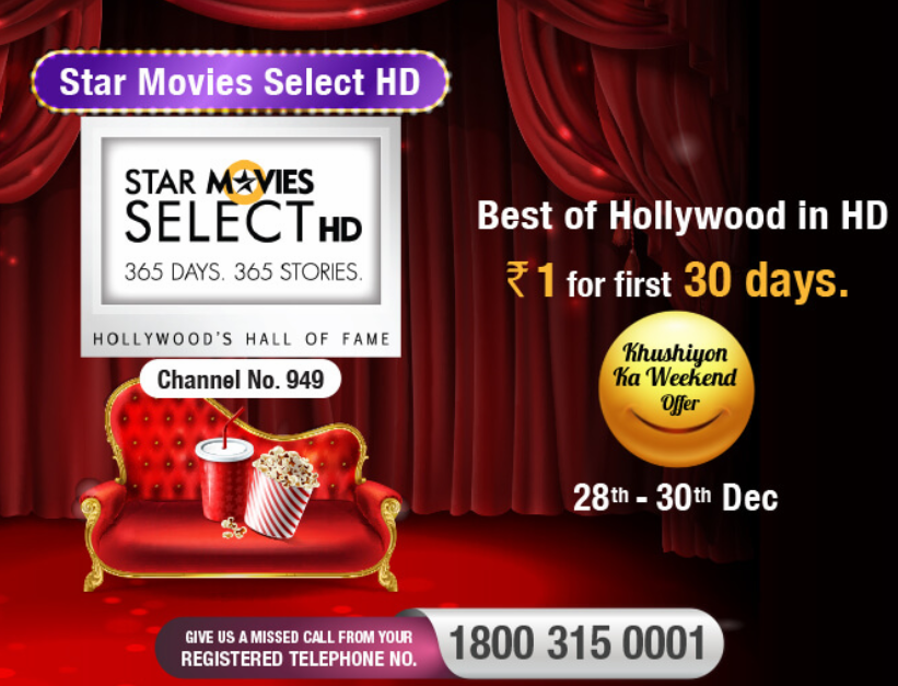 star movies select hd videocon d2h