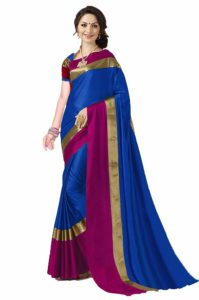 ANNI DESIGNER Indian Women's Cotton Silk Festive Saree with Blouse Piece at upto 95% off