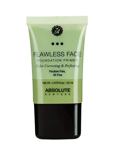 Absolute New York Flawless Face Foundation Primer, Green, 20ml