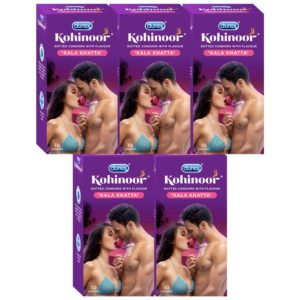 Amazon - Buy Durex Kohinoor Condoms - 10 Count (Pack of 5, Kala Khatta) at Rs 211