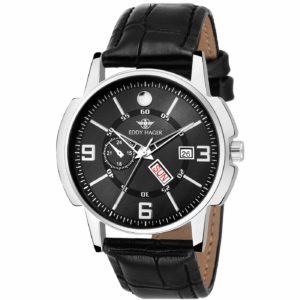 Amazon - Eddy Hager Black Day and Date Men's Watch EH-114-BK at Rs.189