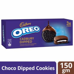 Amazon - Oreo Cadbury Dipped Cookie, 150g at Rs.60 Only