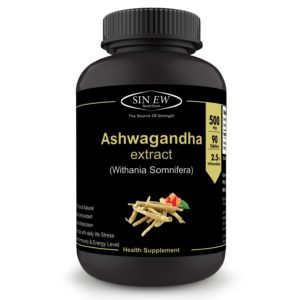 Amazon - Sinew Nutrition Ashwagandha General Wellness Tablets 500mg (90 No.) At Rs.139