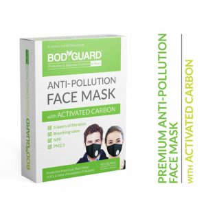 BodyGuard Reusable Anti Pollution Face Mask with Activated Carbon