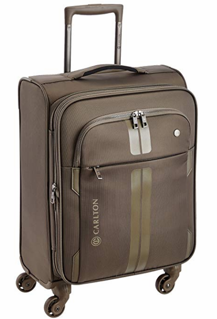 Carlton Polyester 57 cms Champagne Soft Sided Carry-On