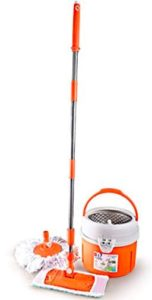 Cello Kleeno Ultra Clean Plus Mop Round and Flat Heads with Refill (Orange, 5-Pieces)