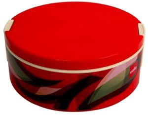 Cello Prisma Plastic Casserole, 1 Litre, Red
