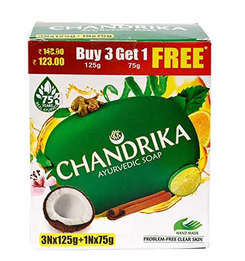 Chandrika Ayurvedic , 125g (Pack of 3) with Free 75g