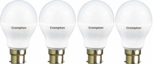 Crompton 7WDF B22 7-Watt LED Lamp (Cool Day Light and Pack of 4)