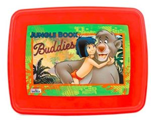 Disney The Jungle Book Plastic Lunch Box Set, 3-Pieces, Red