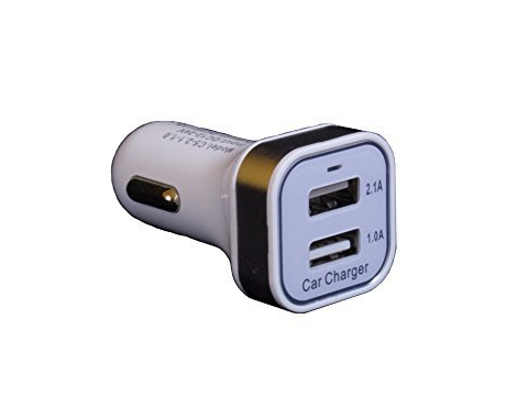 Dual USB Car Charger for all Smartphones (3.1A Output)