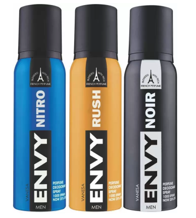 Envy Nitro, Rush & Noir Deo Combo (Pack of 3)