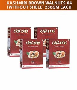 Go Crackers Kashmiri Brown Walnuts kernels Pack of 4(Each 250 gm) at Rs 649