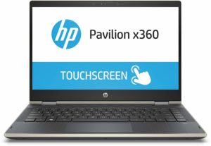 HP Pavilion x360 Core i5 8th gen 14-inch Touchscreen 2-in-1 Thin and Light Laptop