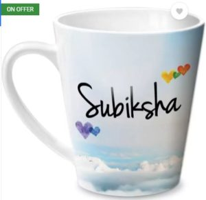 Hot Muggs Simply Love You Subiksha Conical Ceramic Mug (350 ml)