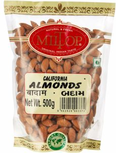 Miltop California Almonds, 500g at Rs 445