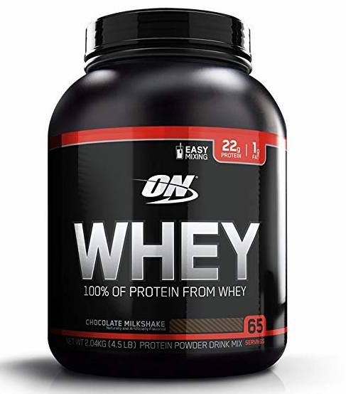 Optimum Nutrition (ON) 100% Whey Protein Powder - 4.5 lbs (Chocolate Milkshake)