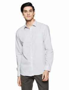 Park Avenue Men's Plain Slim Fit Formal Shirt at upto 80% off