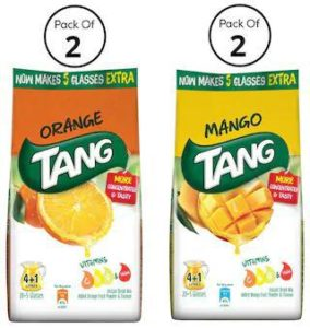 Paytm- TANG Instant Drink Mix Combo Pack (2X500 gm TANG Orange 2X500 gm TANG Mango) at Rs 199