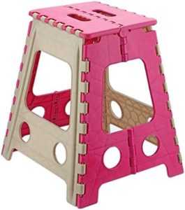 Primelife Step Stool 18 inch with Anti Slip Dots (Pink)