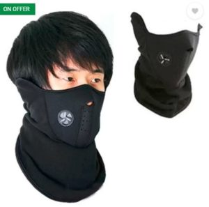 Psylane Black Bike Face Mask for Boys & Girls