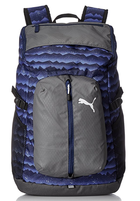 Puma 30 Ltrs Blue Depths Mountain Graphic Laptop Backpack (7440210)