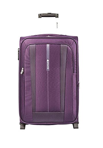 Safari Revv Polyester 51 Liters Purple Softsided Carry-On (Revv-55-Purple-2wh)
