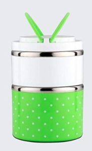 SignoraWare Easy Mate Stainless Steel 2 Tier Lunch Box, Green