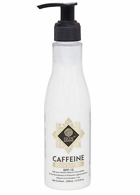 Skin Elements Rejuvenating & Energising Body Lotion with Caffeine & Shea Butter, SPF 15, 200 ml