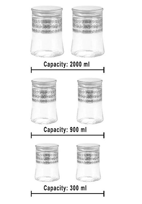 Steelo Belly Container Set, 6-Pieces