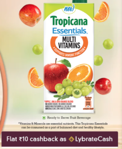 Tropicana juice (Pack of 2) for FRee