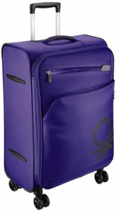 UCB Polyester 58 cms Purple Suitcase