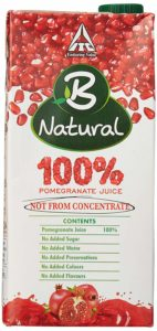 Amazon- B Natural 100% Pomegranate Juice, 1L at rs 110