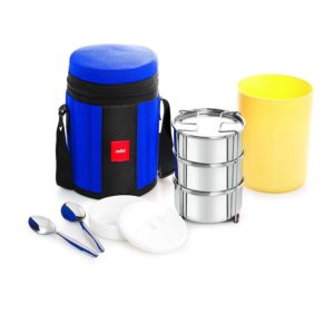 Amazon- Cello Kingstone 3 Container Lunch Packs, Blue  at Rs 363