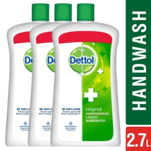 Amazon- Dettol Original Liquid Jar - 900 ml (Pack of 3) at Rs 408
