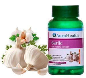AuroHealth Garlic Extract (500mg) - 60 Capsules Natural Herbal Products