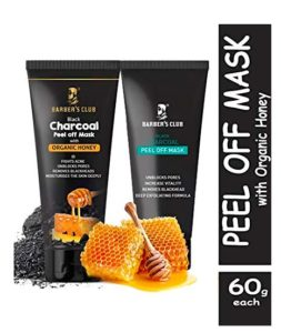 Barber's Club Charcoal Peel Off Mask + Charcoal Peel Off Mask with Honey - 60gms each