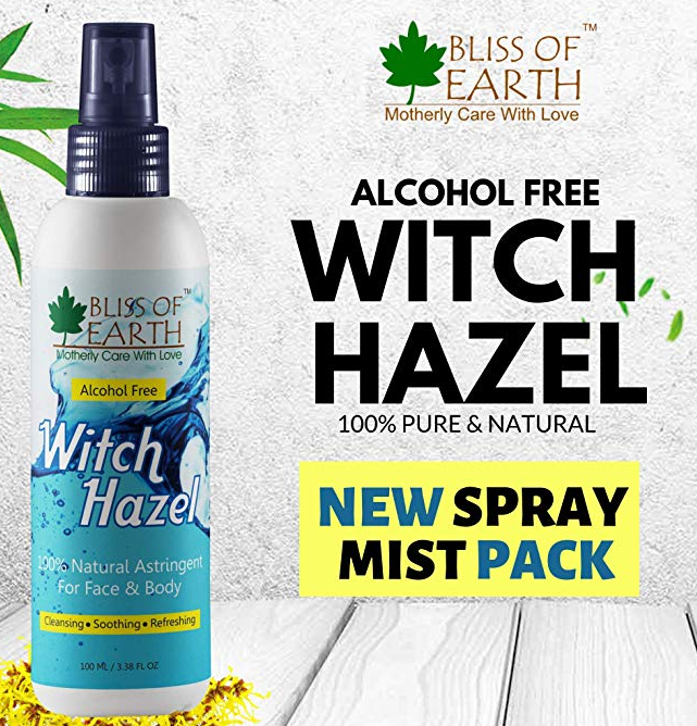 Bliss of Earth Alcohol Free Witch Hazel Astringent, 100 ml