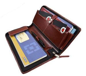 COI Expendable Leatherite Cheque Book Holder