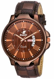 Espoir Analog Brown Dial Men's Watch-LS5098-2