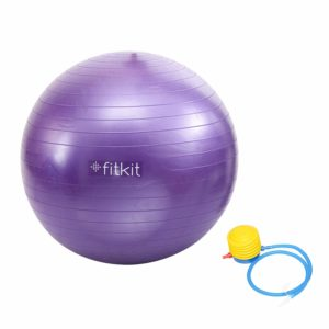 Fitkit FK97404-P Gym Ball with Foot Pump