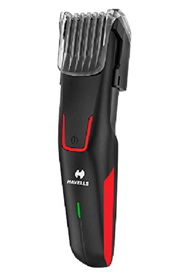 Havells BT5151C Li-ion Cord and Cordless Beard Trimmer without adaptor (Red)