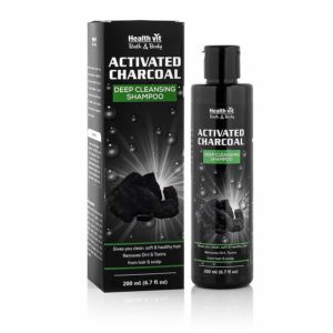 Healthvit Activated Charcoal Deep Cleansing Shampoo, 200ml